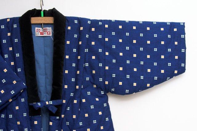宮田織物 綿入れはんてん 半纏 子供袢天 紺 110cm