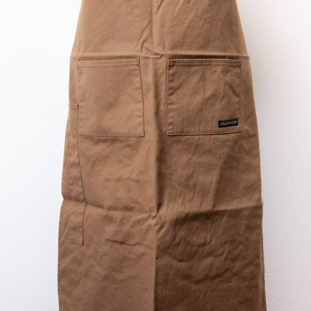 NAPRON エプロン 帆布生地 モカ NP-AP05 4POCKET CANVAS FULL APRON MOCHA