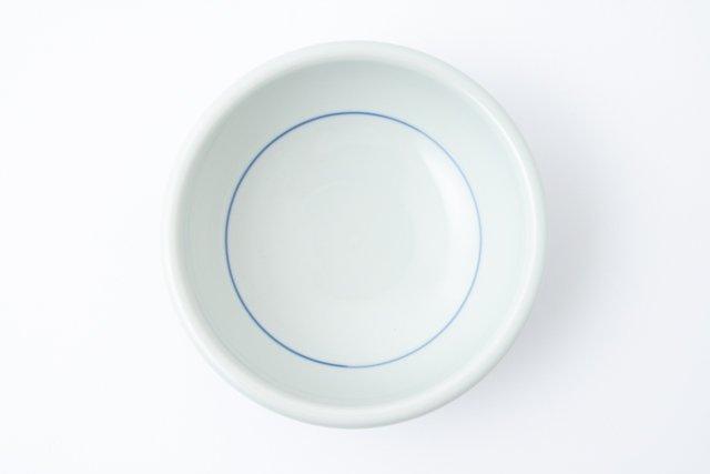 梅山窯 砥部焼 六寸玉縁鉢 十草三つ紋 中鉢
