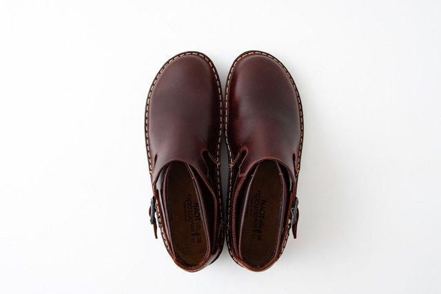 NAOT MALTA マルタ ストラップシューズ Buffalo Leather(赤茶)