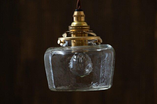 安土草多 吹きガラス ペンダントライト 十二角平瓶 AZ-L23