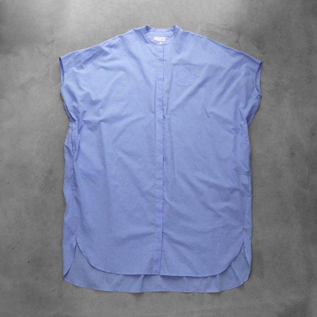 HUIS ハウス なめらかコットンコクーンワイドワンピース ブルー レディース 遠州織物