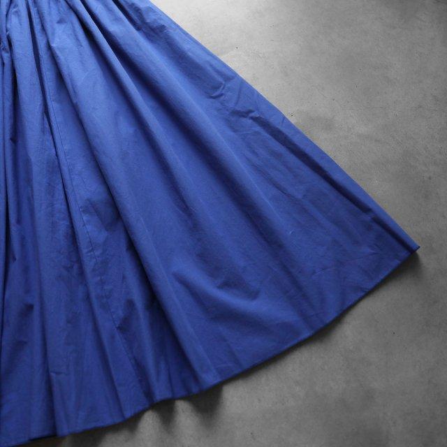HUIS ハウス オーガニックコットンロングスカート マリンブルー レディース 遠州織物