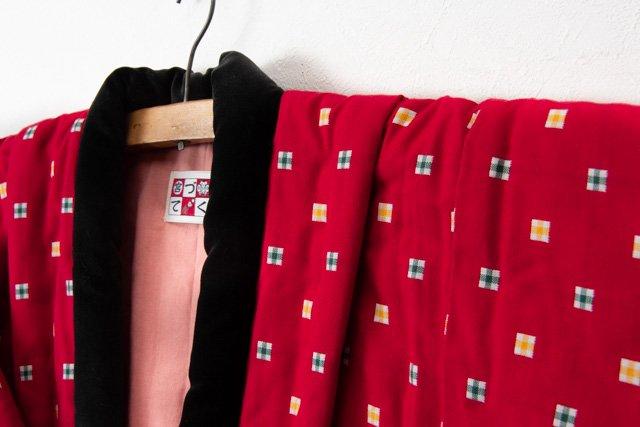 宮田織物 綿入れはんてん 子供袢天(はんてん)赤2 100cm