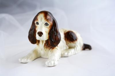 英国 SylvaC(シルバック)の犬フィギュリン、イングリッシュ・コッカー・スパニエル(送料無料)