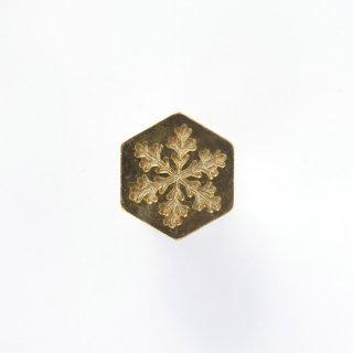 シーリングワックス スタンプ 六角封蝋 SNOW CRYSTAL