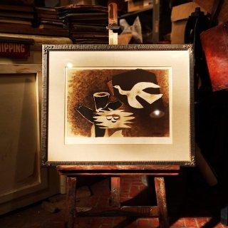 ジョルジュ ブラック(Georges Braque)リトグラフ「鳥とその巣」 1956年