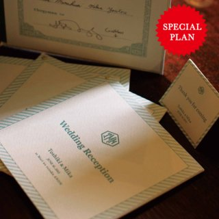 《THE LETTERS SPECIAL PLAN》LETTERPRESS INVITATION モノグラムシリーズ 70名様用