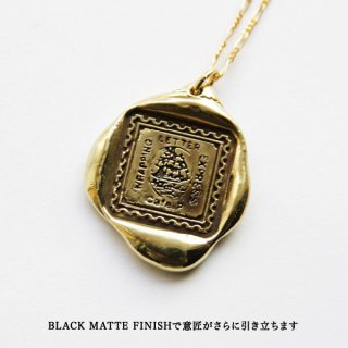 《Wax Seal Jewelry》 ハンドメイドネックレス 真鍮 〜帆船〜