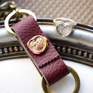 《THE LETTERS》LEATHER KEYHOLDER Love[愛] 〜真実の愛〜