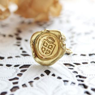 《Wax Seal Jewelry》 ハンドメイドリング 真鍮 〜カフェパピエ〜