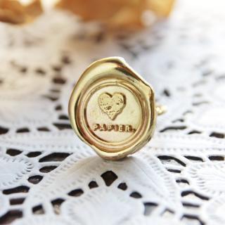 《THE LETTERS》HANDMADE RING 〜LOVE PAPIER〜 brass