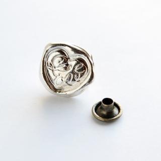 《Wax Seal Jewelry》カシメ シルバー ハート〜Love〜