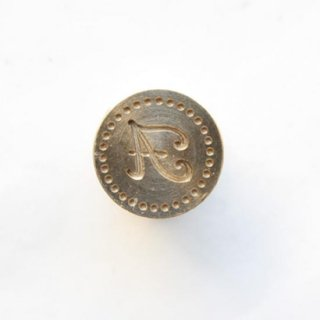 《Wax Seal Jewelry》 シーリングワックス スタンプ 15mm Plebeya2 アルファベット