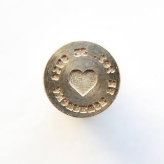 《Wax Seal Jewelry》 シーリングワックス スタンプ 15mm ハート&メッセージ