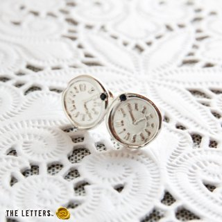 《THE LETTERS》WAXSEAL JEWELRY HANDMADE PIERCE silver  ~clock~