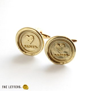 《THE LETTERS》CUFFBUTTON 〜LOVE PAPIER.〜 brass