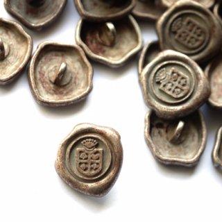 《Wax Seal Jewelry》オリジナル赤錆メッキ ボタン カフェパピエ紋章