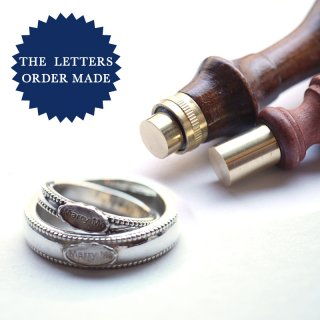 《THE LETTERS Order Made》 ペアリング シルバー Marry Me 〜ワックスシーリングセット〜