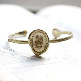 WSJ ハンドメイドバングル 〜王冠とライオン〜 真鍮