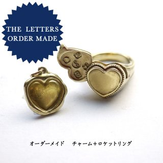 《THE LETTERS Order Made》 ハートワックスシールネックレス 〜ハートロケットリングセット〜