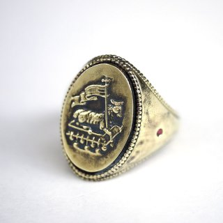 《Wax Seal Jewelry》 シグネットリング 真鍮 〜Agnus Dei 神の子羊〜