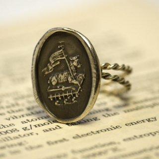 《Wax Seal Jewelry》ハンドメイド ダブルロープリング 〜Agnus Dei 神の子羊〜 シルバー