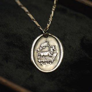 WSJ ワックスシールネックレス 〜Agnus Dei 神の子羊〜 シルバー