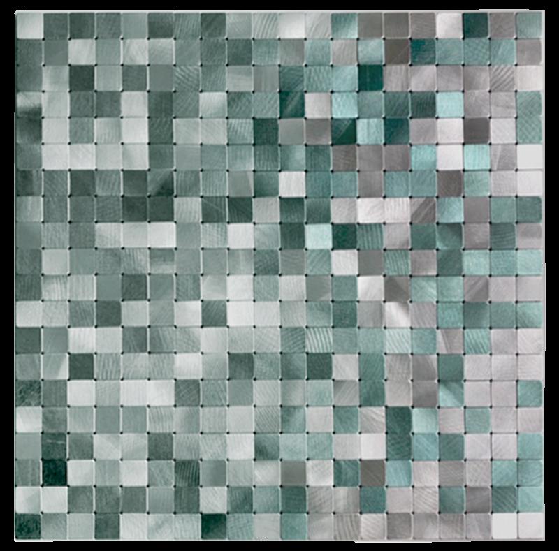 メタルタイルシール Metalmo MS-08 モザイクスモール  【 キッチン 洗面所 トイレの模様替え 壁紙デコレーション  】 30×30センチ