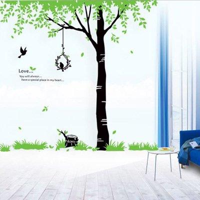ウォールステッカー フレッシュツリー&バード ブーケ 木 鳥 自然 AY719
