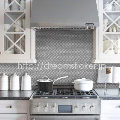 モザイクタイルシール MUS-1 グレー Grigio 【 キッチン 洗面所 トイレの模様替え 壁紙デコレーション  】 31×31センチ