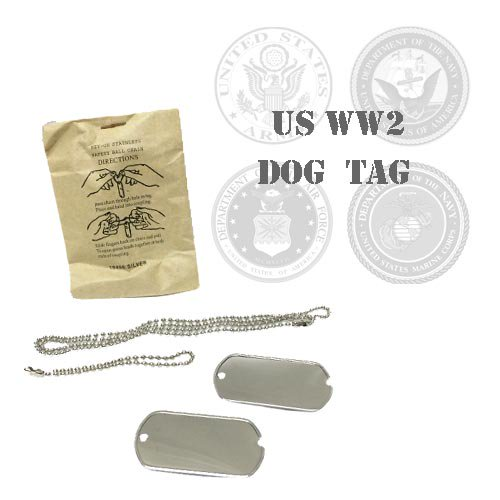 WW2 DEAD STOCK US DOG TAG 1964(第二次世界大戦・実物・未使用品・ドッグタグ・米軍認識票)打刻代金込み【米軍放出品】