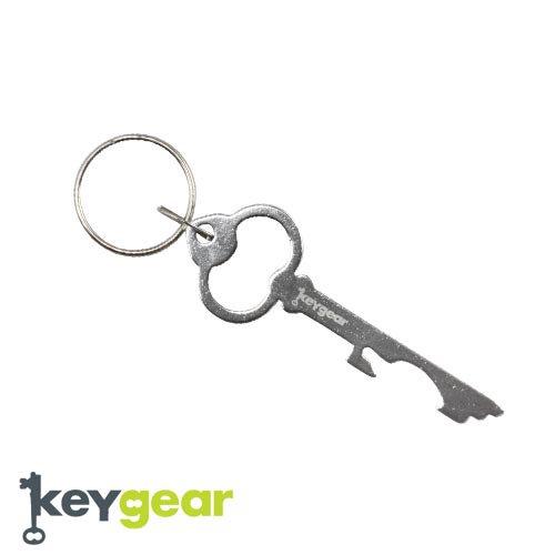 キーギア【KEYGEAR】KEY BOTTLE  OPENER/SILVER/KEY HOLDER(カギ型ボトルオープナー/シルバー/キーホルダー)50-KEY0080-…