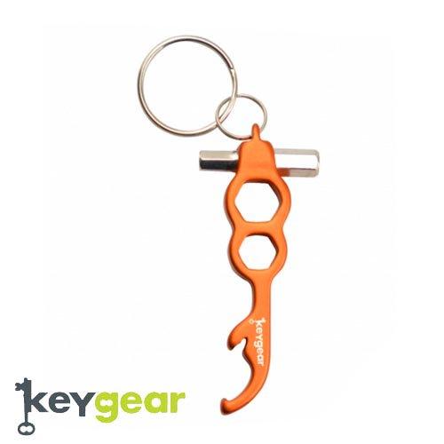 キーギア【KEYGEAR】BOTTLE OPENER HEX SET/ORANGE/KEY HOLDER(ボトルオープナーヘックスセット/オレンジ/キーホルダー)50-KEY0060-…