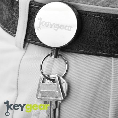 キーギア【KEYGEAR】RETACTABLE KEY/GREEN/KEY HOLDER/CLIP/CABLE(リトラクタブルキーキーパー/シルバー/キーホルダー)50-KEY0047-…