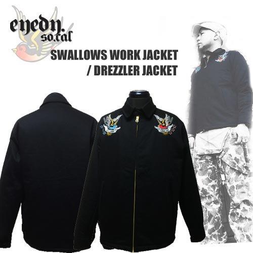 アイディー【EYEDY 】SWALLOWS WORK JACKET/DRIZZLER JACKET(スワロー刺繍ワークジャケット/ドリズラージャケット/ツバメ)送料…