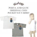 ポルタアンドゲート/PORTAANDGATE/ORIGINAL COIN POCKET S/S T-SHIRT/LEE/REMAKE/リーコインポケットリメイクキッズ半袖Tシャツ/子供服
