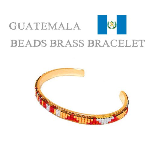 GUATEMALA BEADS BRASS BRACELET/グアテマラ/真鍮製ビーズブレスレット ...