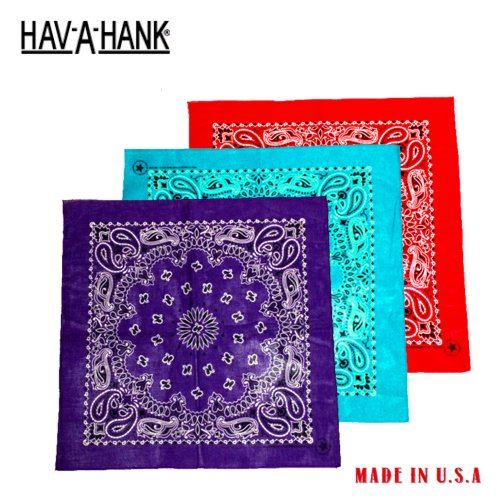 �ϥХϥ�HAV-A-HANK��PAISLEY PATTERN BANDANA(�ڥ�������Х����/�ϥ�)NO.2 MADE IN USA