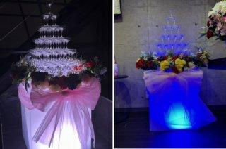 シャンパンタワー7段出張設置