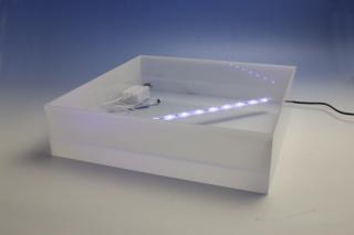 LED電飾付きシャンパンタワー4段用アクリルトレー