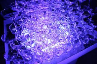 LED電飾付きシャンパンタワー7段用アクリルトレー