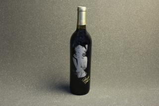 シャンパンタワー用シャンパンボトル写真彫刻