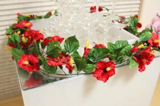 シャンパンタワー用装飾花 ハイビスカスVer