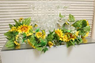シャンパンタワー用装飾花 ひまわりVer