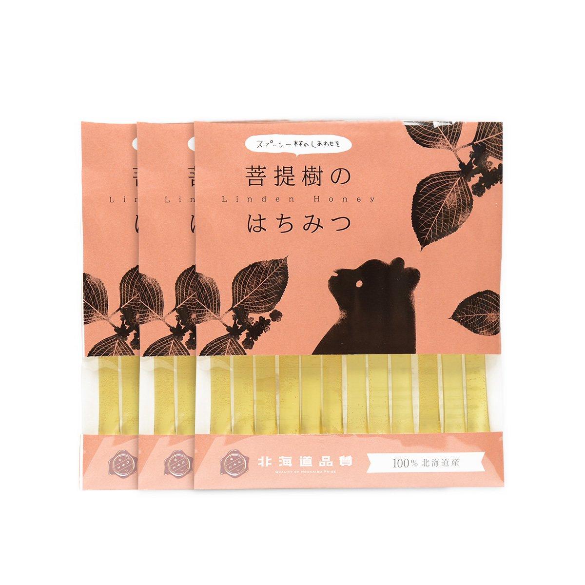 北海道産 はちみつストロー 菩提樹 2.5g×12本入り×3セット