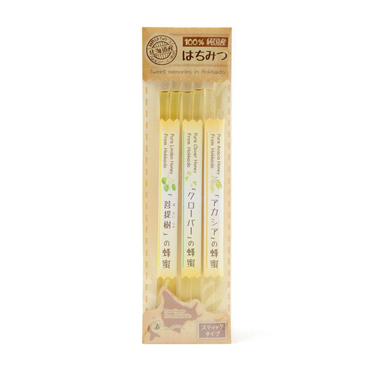 北海道産スティック蜂蜜 3種セット 6g×6本