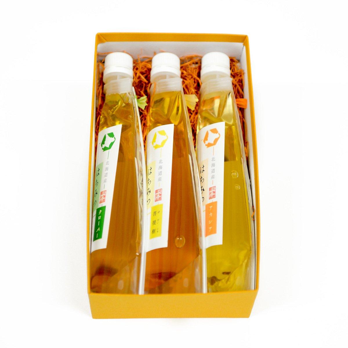 北海道産らくらく蜂蜜 3種ギフトセット