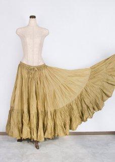 ベリーダンス衣装 25ヤードスカート 36 単色 ベージュ 生成り ジプシー