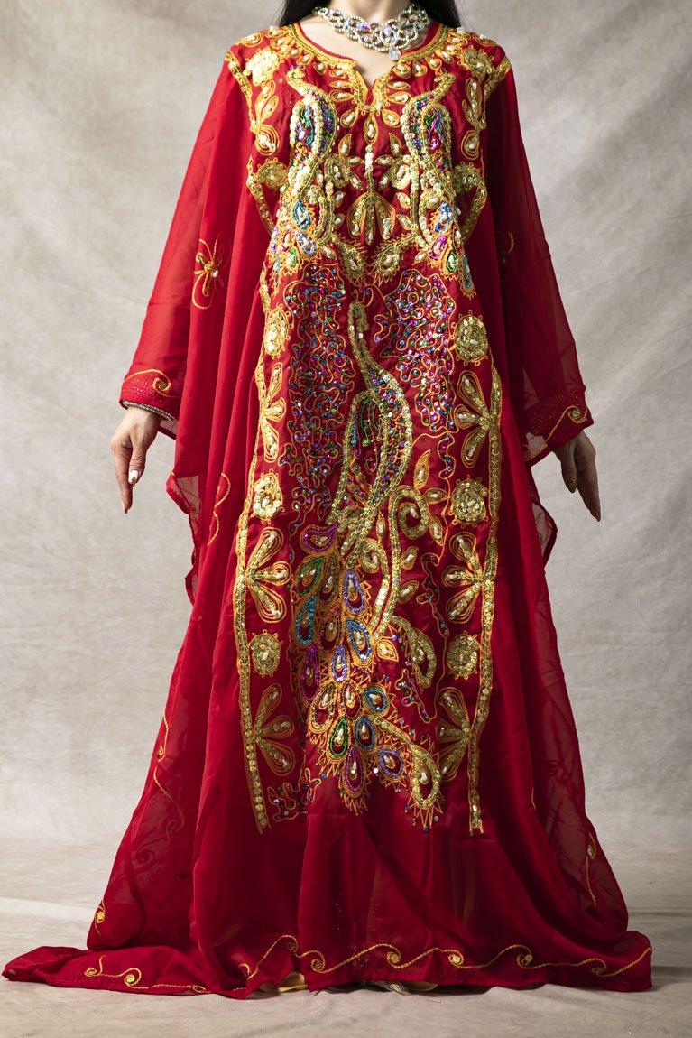 エジプト製 ハリージドレス 黄緑
